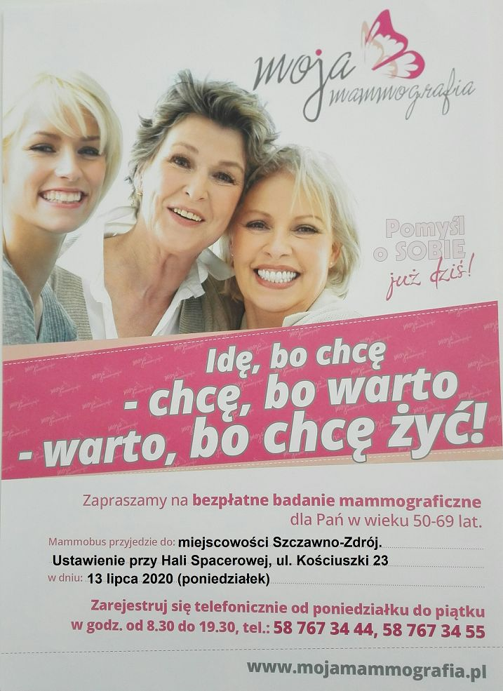 REGION, Szczawno-Zdrój: Badania mammograficzne