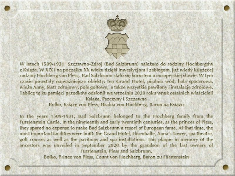 REGION, Szczawno-Zdrój: Wizyta księcia