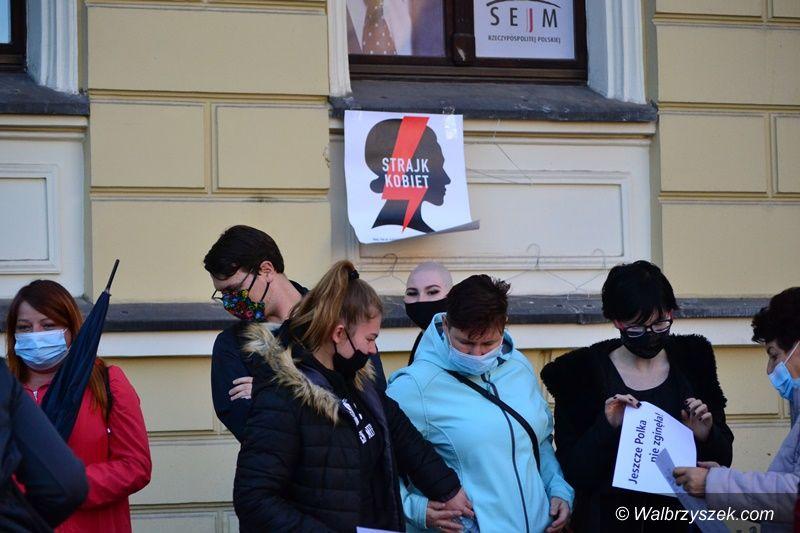 Wałbrzych: Kobiety protestowały