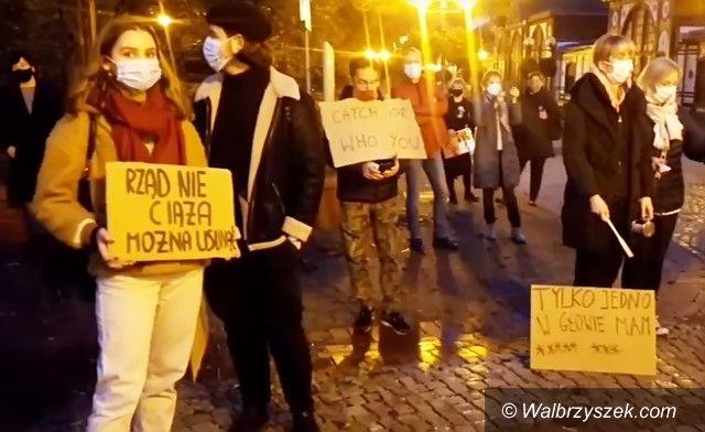 REGION, Szczawno-Zdrój: Protestowali w Szczawnie
