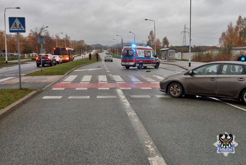 Wałbrzych: Rowerzysta w szpitalu
