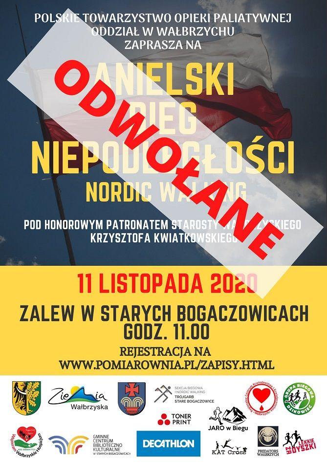 Wałbrzych/powiat wałbrzyski: Bieg odwołany