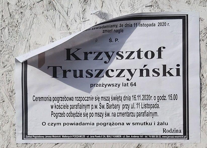 Wałbrzych: Zmarł Krzysztof Truszczyński