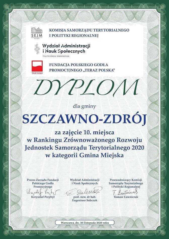 REGION, Szczawno-Zdrój: Wyróżnienie dla Szczawna