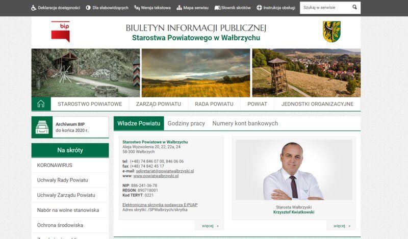 powiat wałbrzyski: Nowy BIP
