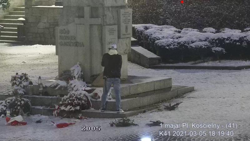 Wałbrzych: Znieważył pomnik