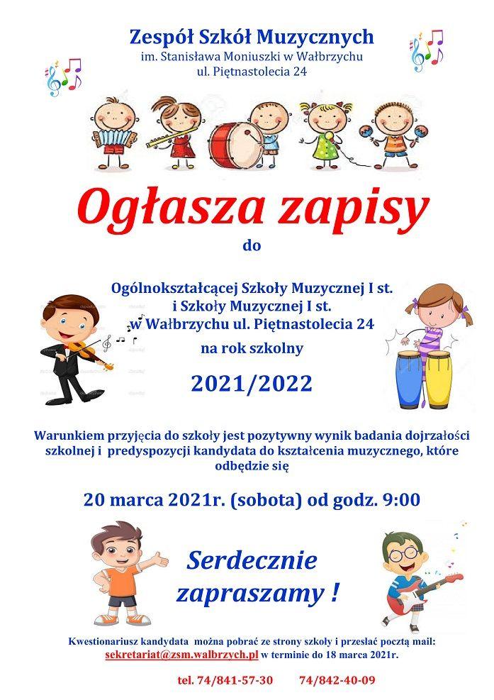 Wałbrzych: Rekrutacja do szkoły muzycznej