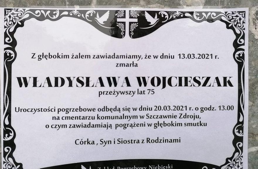 REGION: Zmarła Władysława Wojcieszak