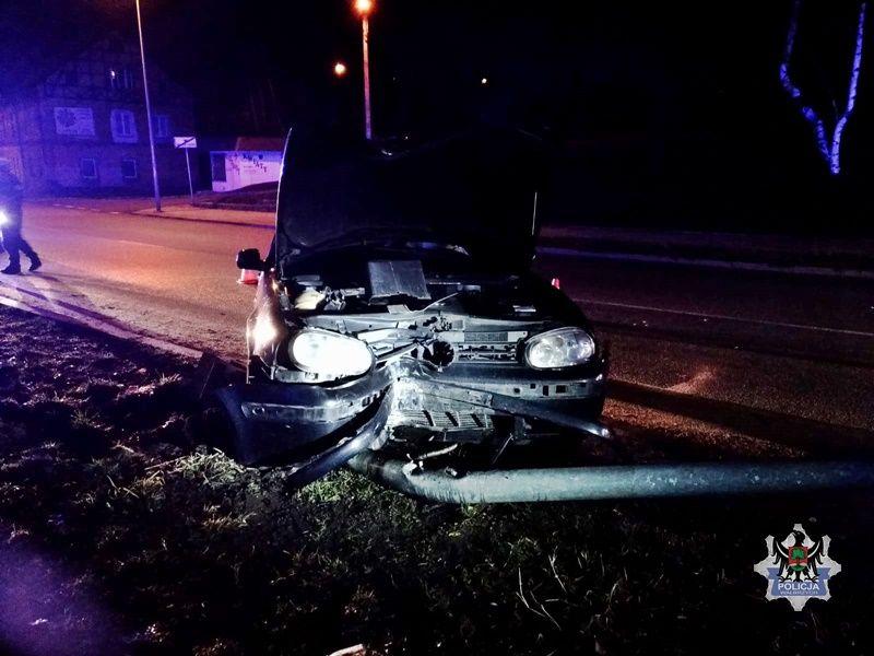 Wałbrzych/powiat wałbrzyski: Uszkodziła oświetlenie