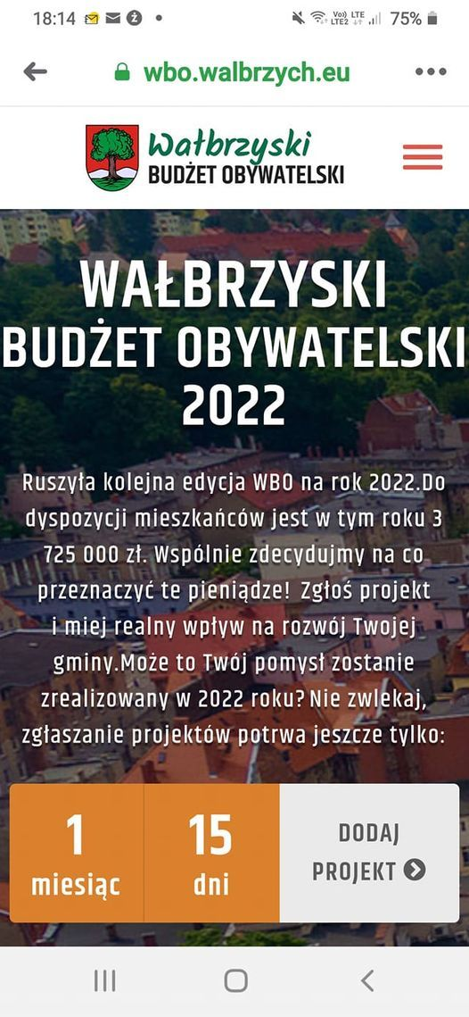 Wałbrzych: Ruszył budżet obywatelski