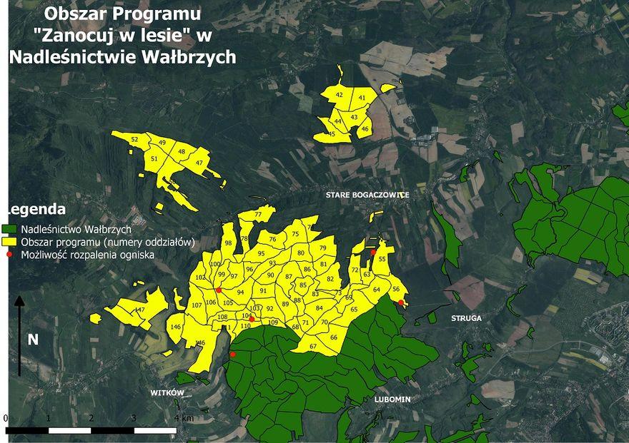 Wałbrzych/REGION: Zanocuj w lesie