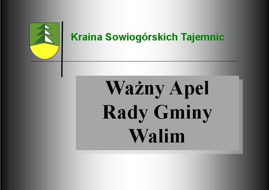 REGION, Walim: Apelują o remont