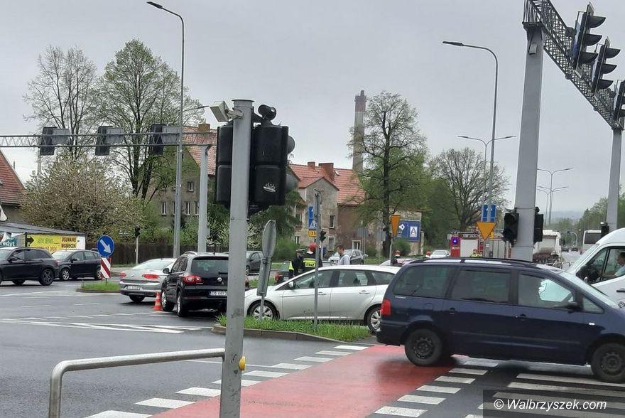 Wałbrzych: Kolizja na skrzyżowaniu