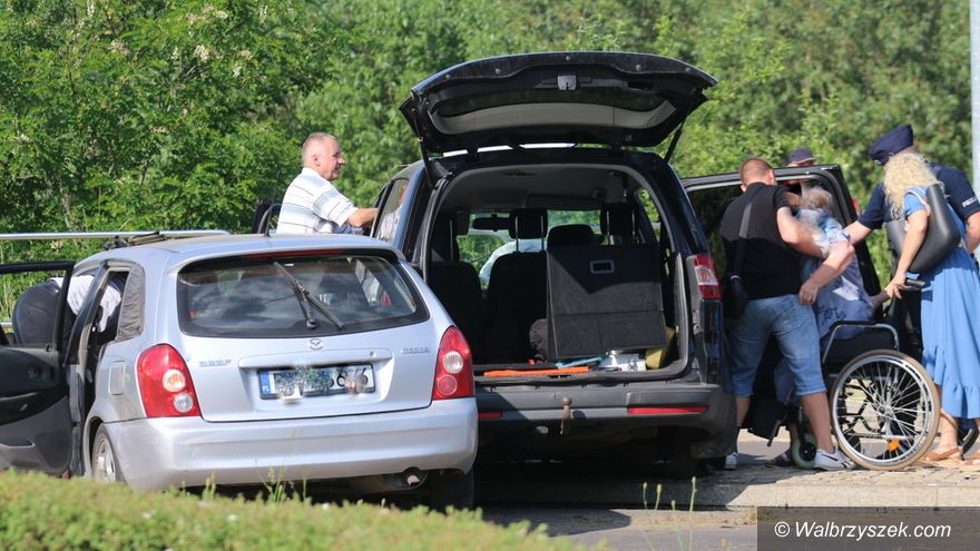 Wałbrzych: Wypadek na Wysockiego