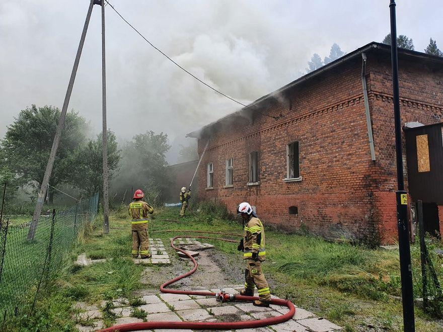 REGION, Boguszów-Gorce: Pożar pustostanu