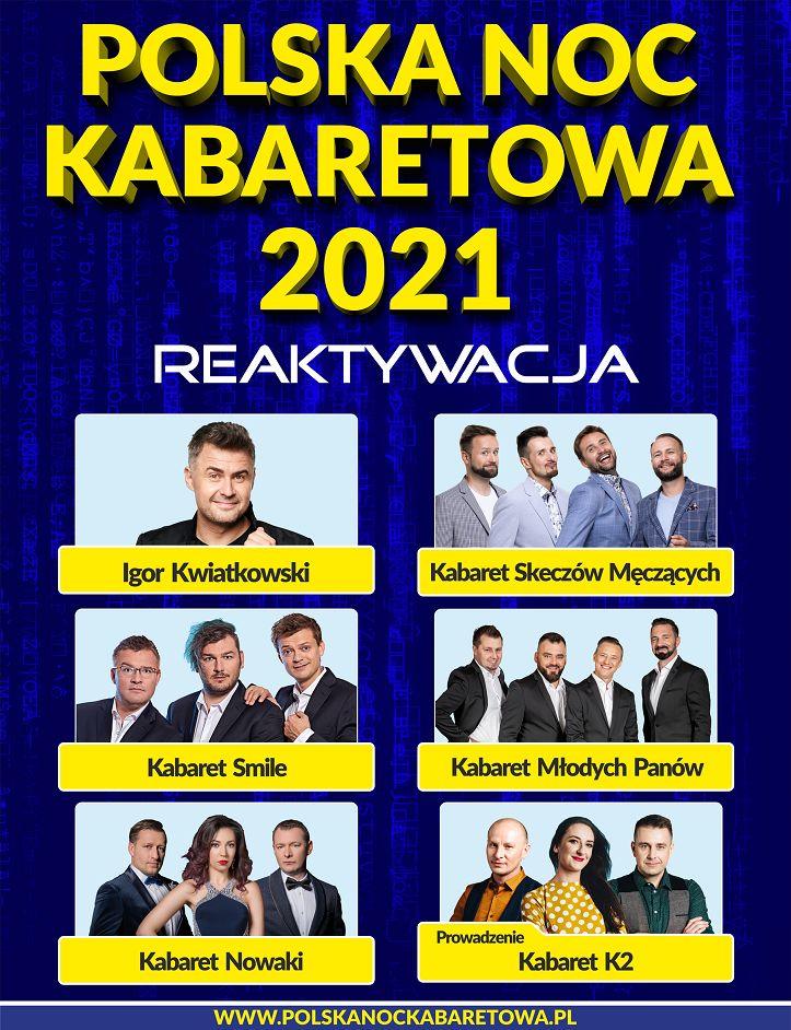 Wałbrzych: Polska Noc Kabaretowa 2021 – Reaktywacja