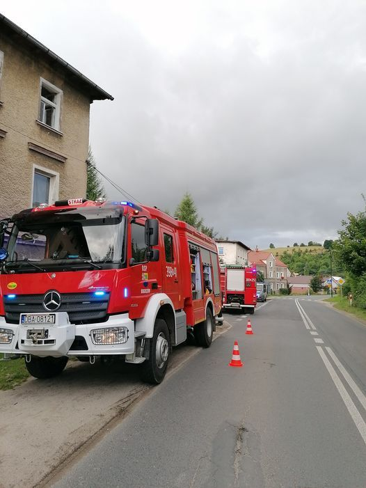 REGION, Boguszów-Gorce: Pożar na Wałbrzyskiej