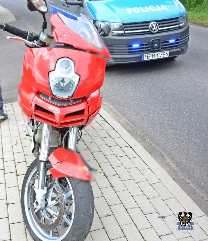 REGION, Dziećmorowice: Motocyklista trafił do szpitala