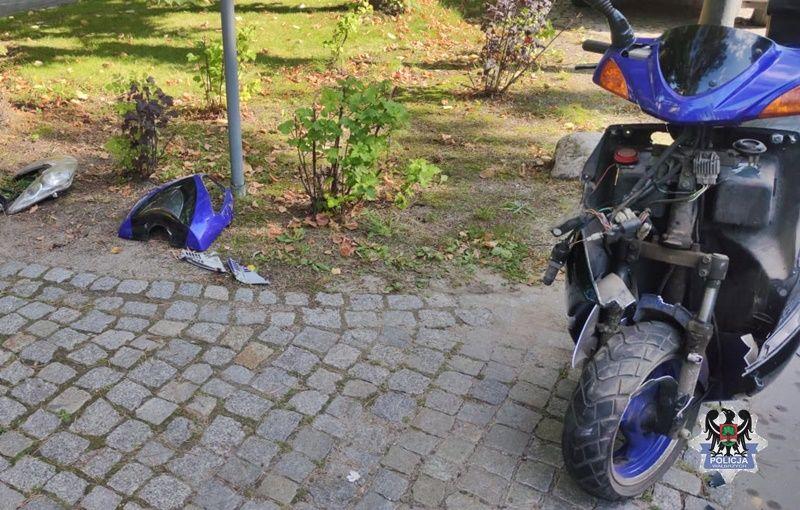 REGION, Szczawno-Zdrój: Motorowerzysta w szpitalu