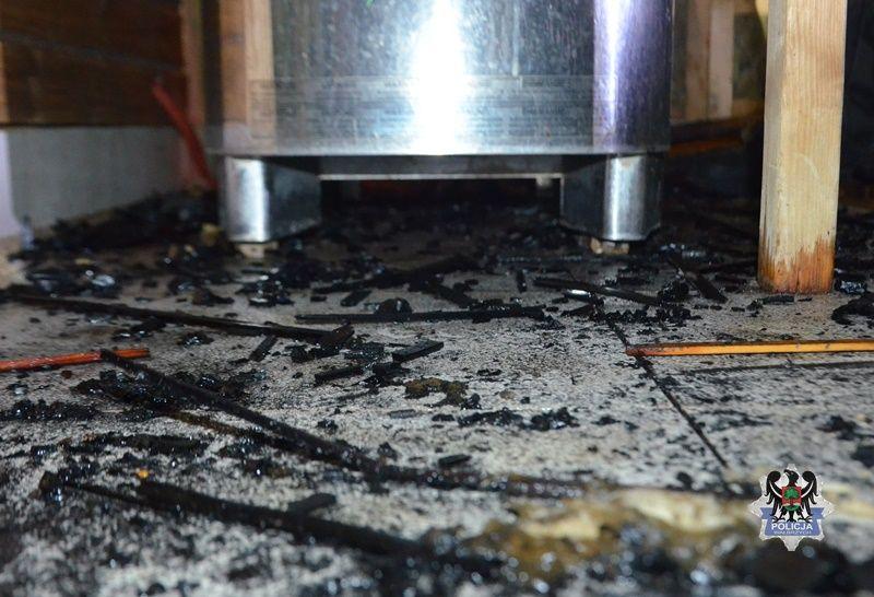 Wałbrzych: Wzniecił pożar w saunie