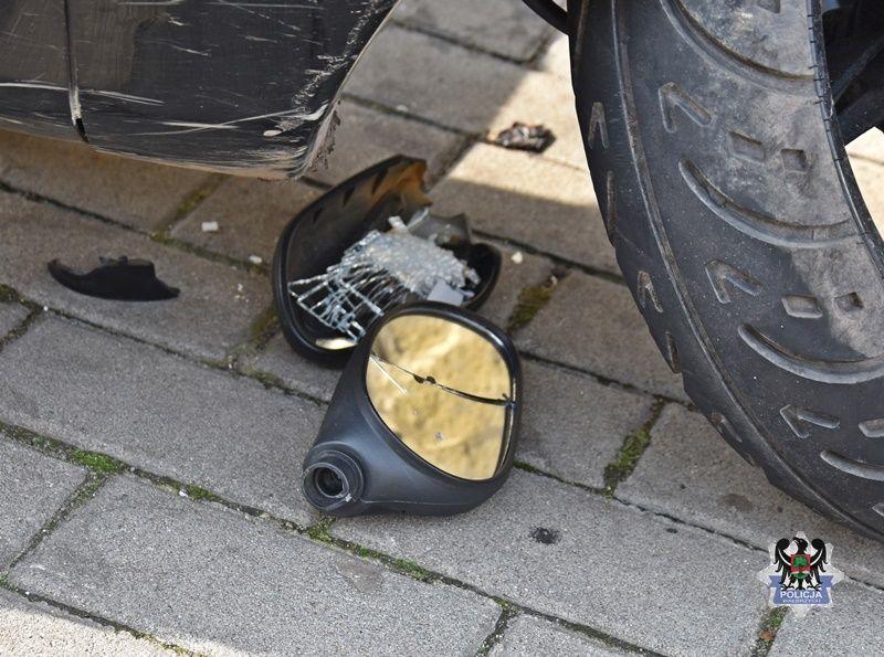 Wałbrzych: Samochodem w motorowerzystę