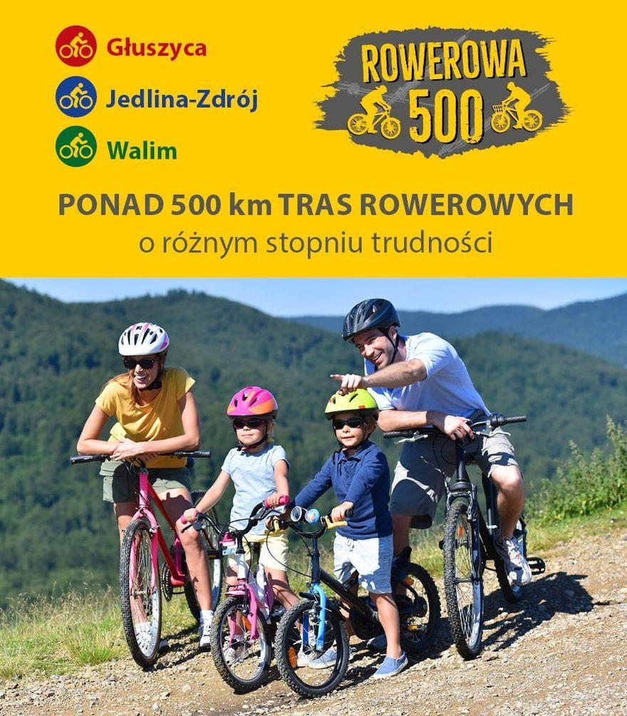 """REGION, Jedlina-Zdrój/Głuszyca/Walim: Docenili """"Rowerową 500"""""""