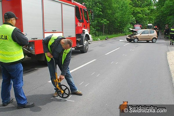 Świdnica/Strzegom: Wypadek na trasie na Strzegom