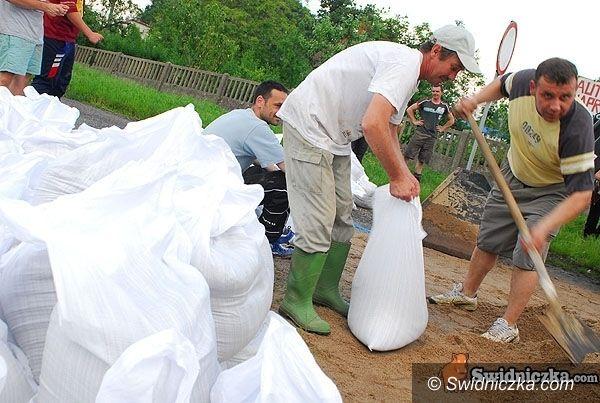 powiat świdnicki: Sytuacja powodziowa w powiecie świdnickim