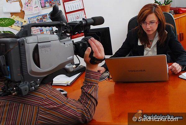 Świdnica: TVP kręci świdnicką redaktorkę