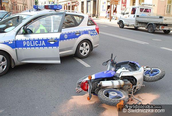 Świdnica: Zajechała drogę motocykliście