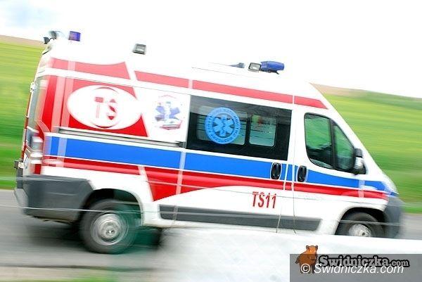 Świdnica: SAAB potrącił kobietę prowadzącą rower