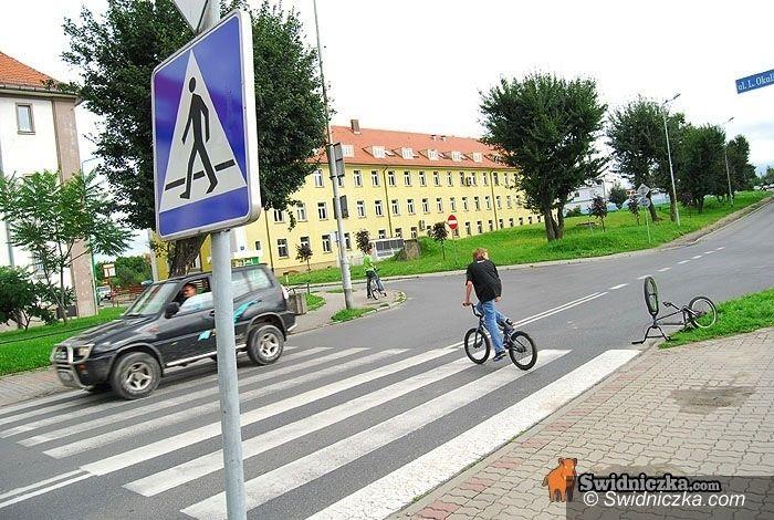 Świdnica: Cyklista zawinił, ale nie został ukarany