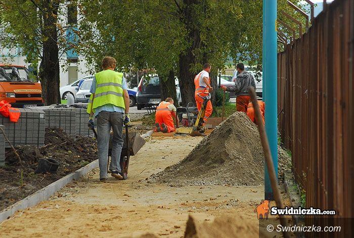 Świdnica: Przy Latawcu powstaje chodnik, będzie też parking, nareszcie!