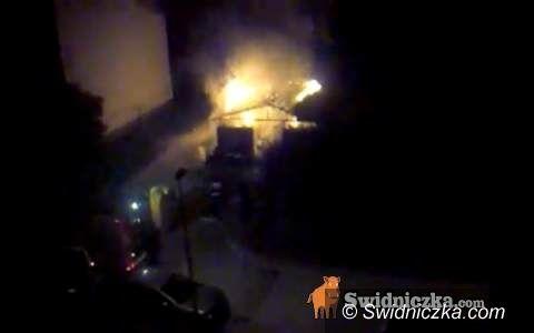 Świdnica: Nocny pożar na Moniuszki