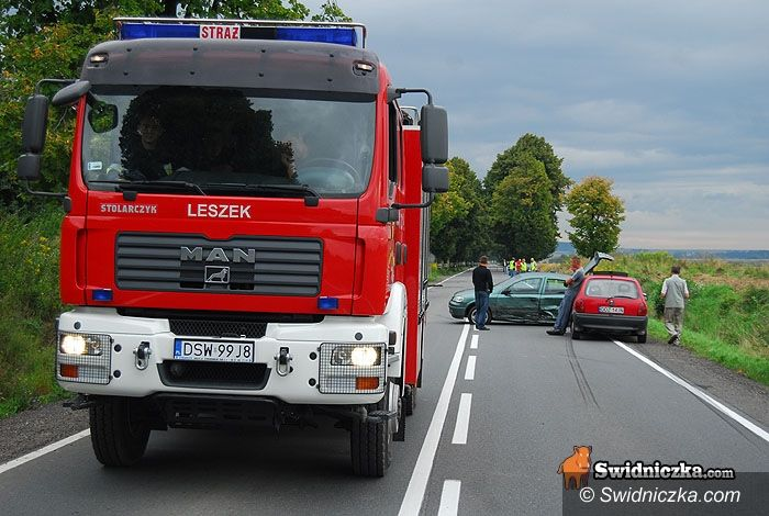 Stanowice: Piętnaście osób rannych – wypadek busa i dwóch osobówek