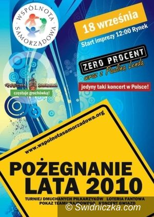 Świdnica: Wspólnota Samorządowa żegna lato z lokalnymi gwiazdami