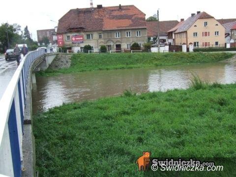 powiat świdnicki: Strażacy walczą z wodą, ale sytuacja się uspokaja