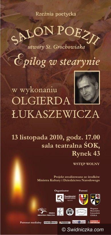 Świdnica: Łukaszewicz przedstawi Grochowiaka