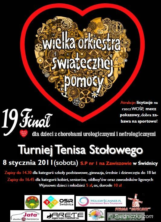 Świdnica: Turniej tenisa stołowego w ramach WOŚP