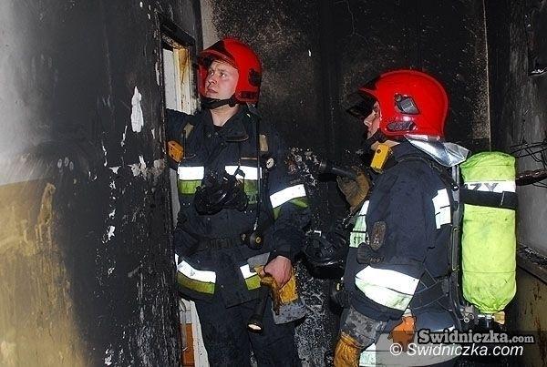 powiat świdnicki: Dwa pożary na Nowy Rok