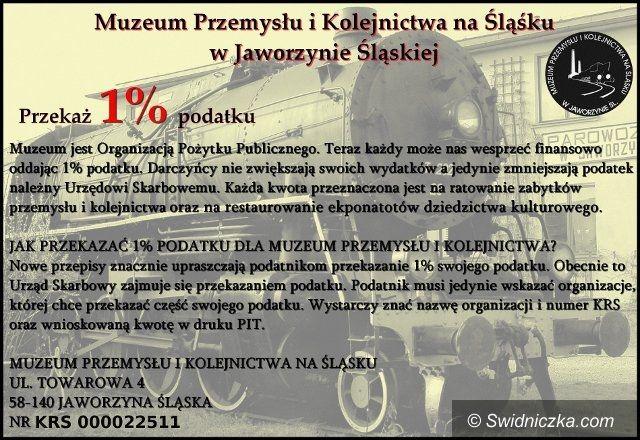 Jaworzyna Śląska: Komu 1 procent podatku? Może Muzeum Przemysłu i Kolejnictwa w Jaworzynie Śląskiej!