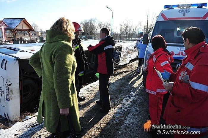 powiat świdnicki: Meldunek z pogotowia: sporo poszkodowanych dzieci