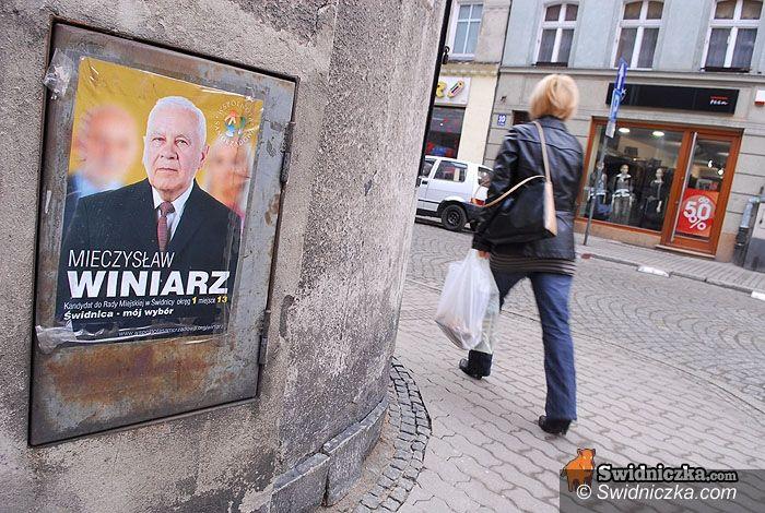Świdnica: Pamiętamy o wyborach – plakaty nie dają nam zapomnieć...