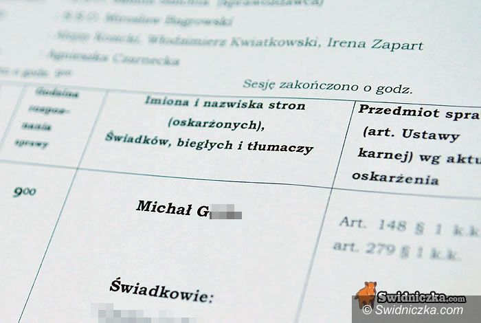 Dzierżoniów/Świdnica: Z wokandy świdnickiego sądu: dopalaczowy szał