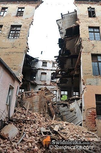 Świdnica/Dolny Śląsk: Wtorek w Świdnicy i w okolicy – zawalona oficyna i inne wydarzenia
