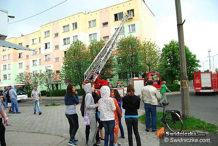 Świdnica: Trzy wozy strażackie do pożaru garnka