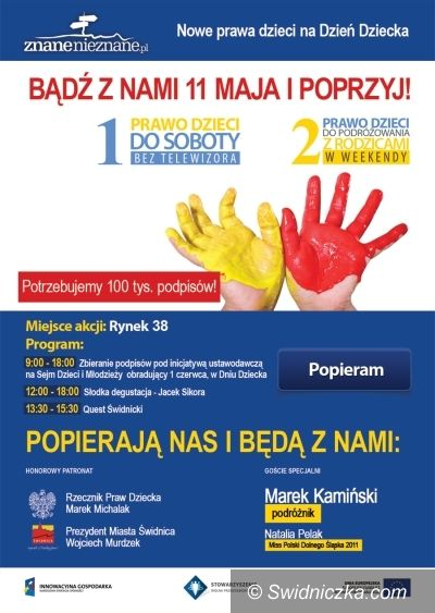 Świdnica: Stolica Dziecięcych Marzeń centrum zbierania podpisów pod ogólnopolską inicjatywą ustawodawczą