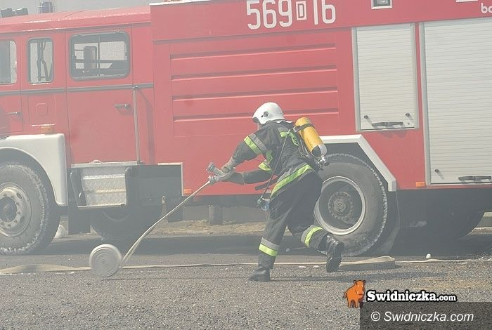 powiat świdnicki: Jedna doba, dwa pożary