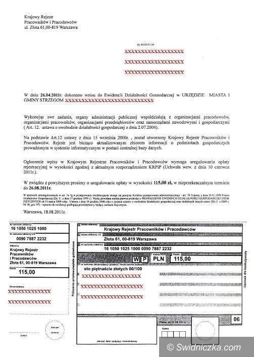 Świdnica: Przedsiębiorco uważaj na oszustów