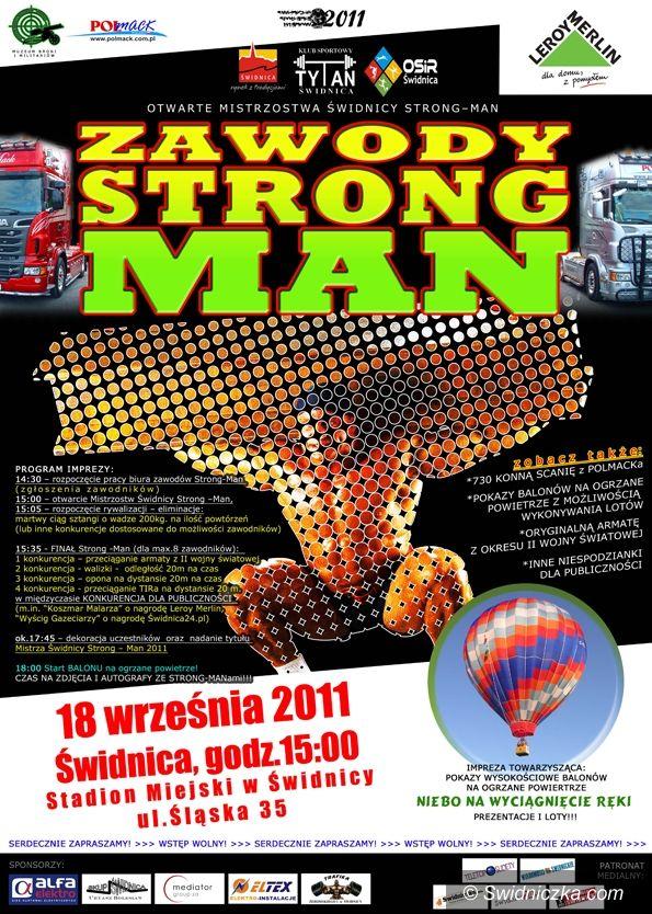 Świdnica: Zawody Strong–Man – czekają nas wielkie emocje